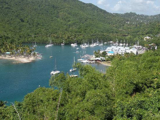 Villa Marigot : View of bay from deck