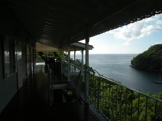 Villa Marigot : View of bay from deck