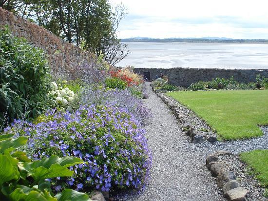 Lissadell House: The alpine garden overlooking Sligo Bay