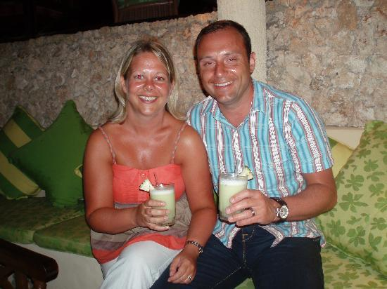 Baobab Beach Resort & Spa : Our amazingly fresh, unique pina coladas (long story!)