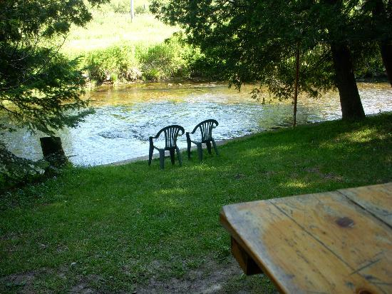 Malone's Sturgeon River Cabins : From the cabin porch