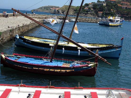 Hotel-Restaurant les Templiers: Derain boats