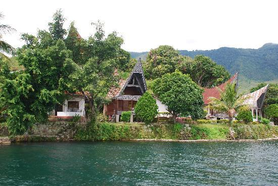 bungalows of Tuk Tuk Timbul at Lake Toba