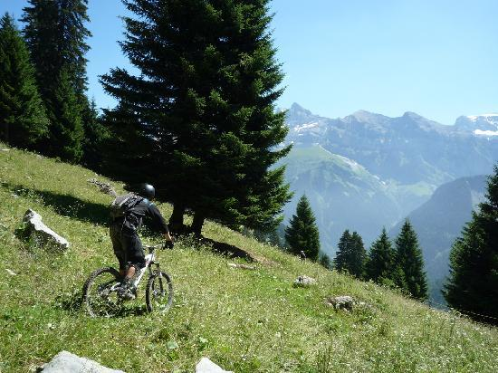 Flowmtb, Mountain Bike Chalet : The final day heading over to Champery