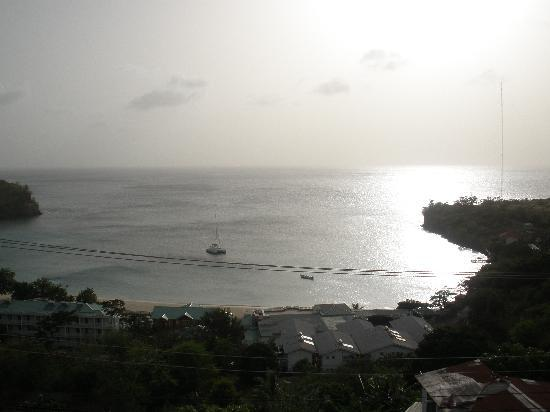 Grand View Inn: Morne Rouge Bay... from our balcony.