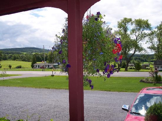 The Meadowlark Inn Cooperstown: Hanging plants line the front
