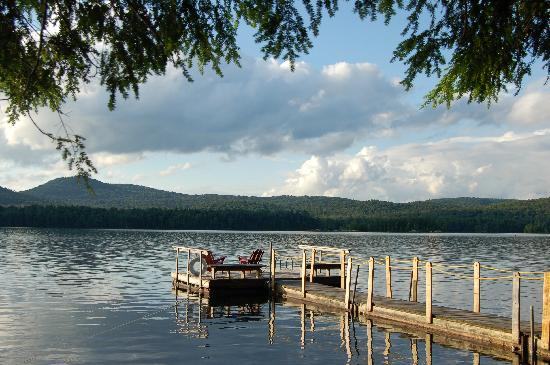 Blue Mountain Lake, estado de Nueva York: Swimming dock