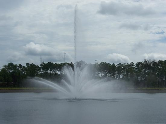 Hampton Inn & Suites Jacksonville - Bartram Park: Fountain in front of Hotel
