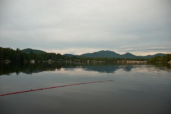 Gauthier's Saranac Lake Inn and Hotel: view of the Inn shot from the comp. canoe