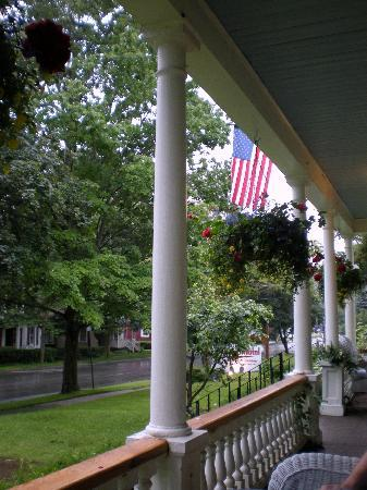 Cooperstown B and B: A view from the porch in the early evening
