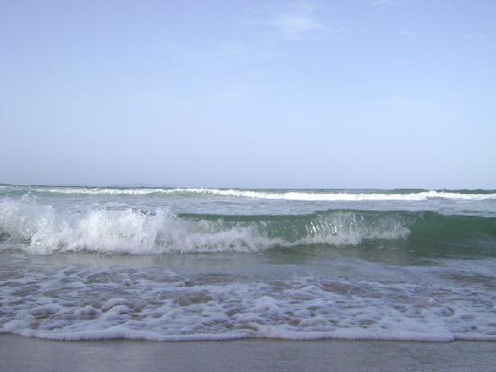 Hotel Isla Caribe: Mi vista hacia la playa desde la tumbona