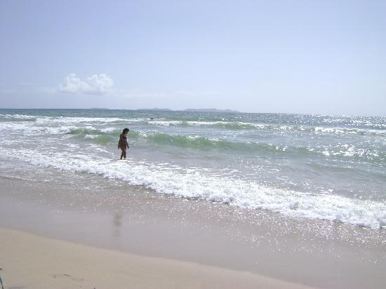 Isla Caribe Beach Hotel: Playa con vista hacia islas Los Frailes