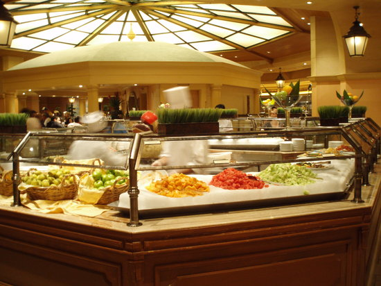 The Buffet Bellagio offers bistro style dining and a wide array of dishes to guests looking for a hearty meal. Located in the heart of the resort, and offering guests fine options such as a high end omelet station and fresh baked pastries, Breakfast at Buffet Bellagio is available from Monday through Friday, a.m. to a.m. for just $Accept Reservations: Yes.