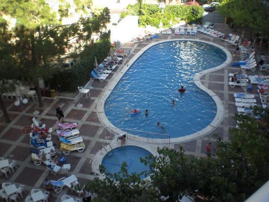 MedPlaya Hotel Calypso : Het uitzicht van op ons balkon