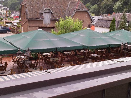 Hotel Petry: Terrace at the restaurant
