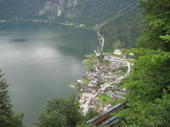 Haus Trausner: View of Hallstatt from salt mine