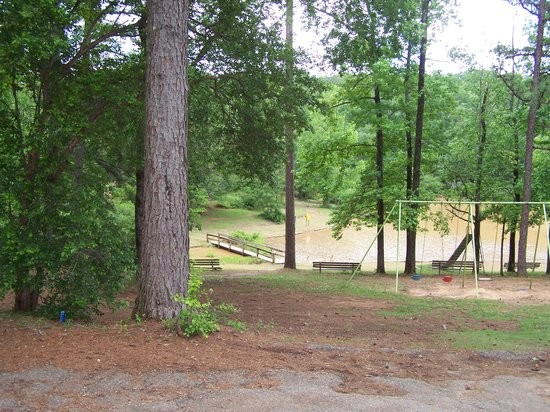 Chewacla State Park Campground and Cabins : The playground close to the water