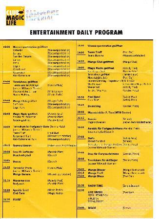 TUI MAGIC LIFE Sarigerme: Entertainment Programm