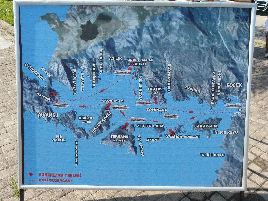 Ortaca, Turkije: 12 Insel Rundfahrt - Route