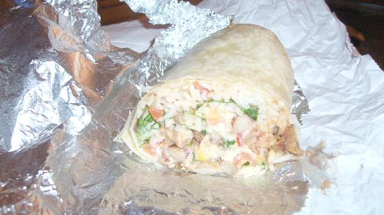 Illegal Pete's: Chicken Burrito - $6.50 - enough to share too!