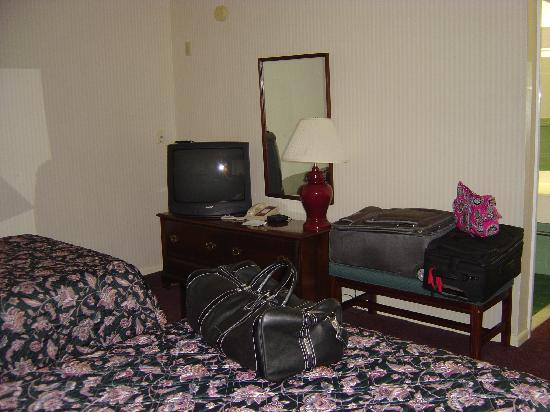 Rodeway Inn Marshall Manor: TV and dresser.