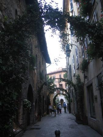 Albergo Del Duca: Side street near the hotel