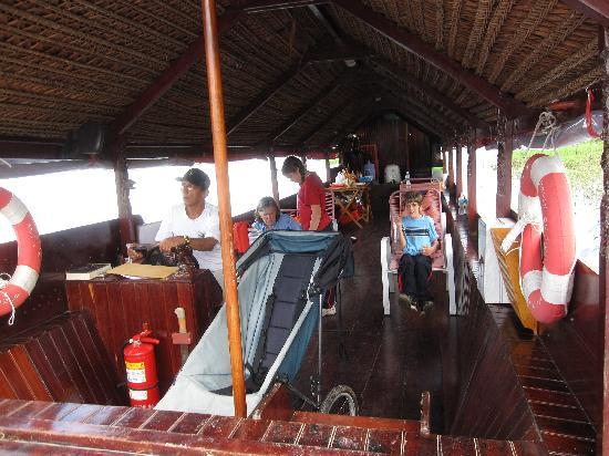 Iquitos, Peru: Relaxing on the boat