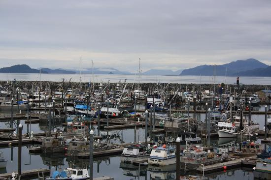 Reluctant Fisherman Inn: Harbor from the deck off the lobby