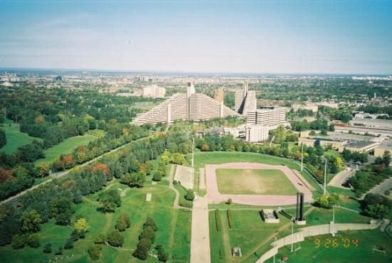 Olympic Park (Parc olympique): View of Montreal from Olympic Park