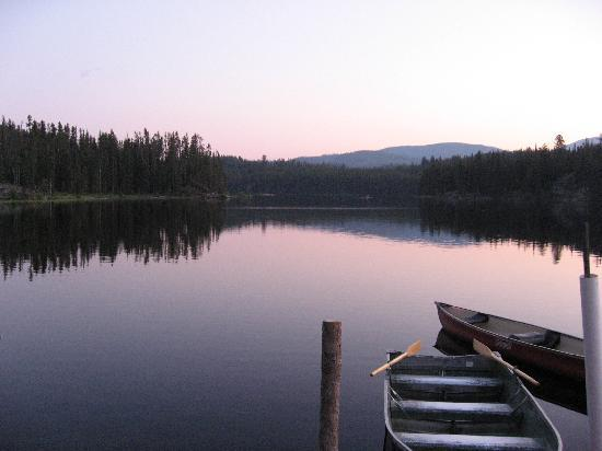 Idabel Lake Resort: idabel lake sunset