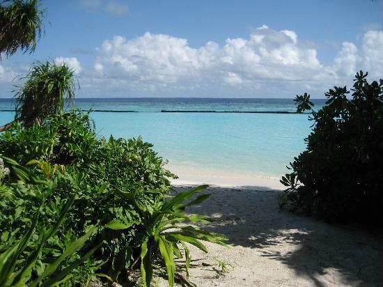 Остров Курамати: Beach villa view