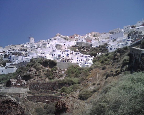Spitia Houses: View from down the hill