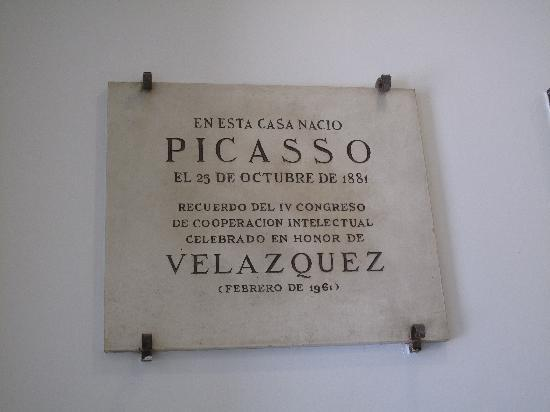 Fundación Picasso - Museo Natal: Plaque