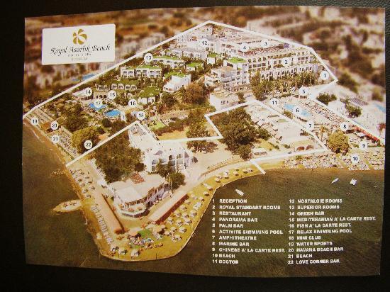 Royal Asarlik Beach: Map of the hotel