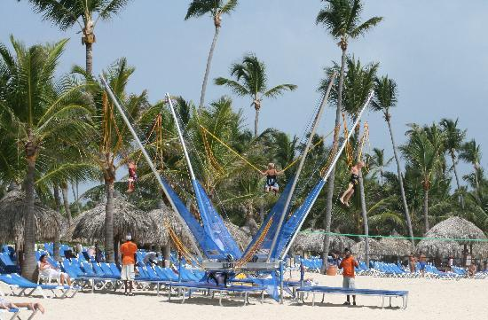 Grand Bahia Principe Punta Cana: Bungee Jump on Beach