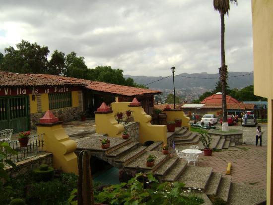 Hotel Villa de la Plata: vista del hotel desde la habitacion