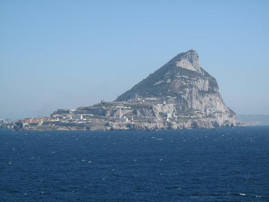 Gibraltar: the rock from our cruise ship