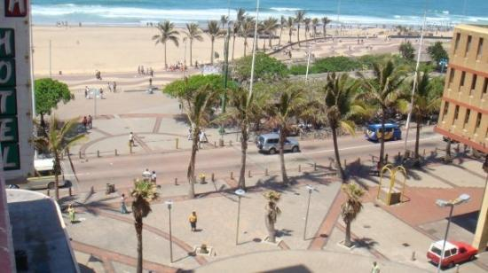 Durban, South Africa, the wien of the beachfront from my hotel