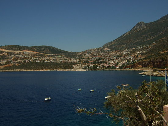 Patara Prince Hotel & Resort: View from swimming pool towards Kalkan