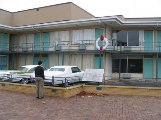 Paying my respects to Dr. King.  This is the Lorraine Motel in Memphis.  It's now the National C