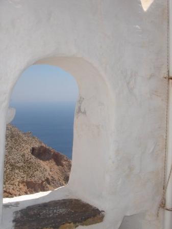 Monastery of Panagia Hozoviotissa (Grace of Panagia -Virgin Mary): Vista desde el Monasterio de Josoviotisa