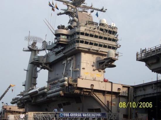Naval Station Norfolk: My 1st Command the USS Geoge Washington CVN-73. The 5th Nimitz class carrier At the time she was