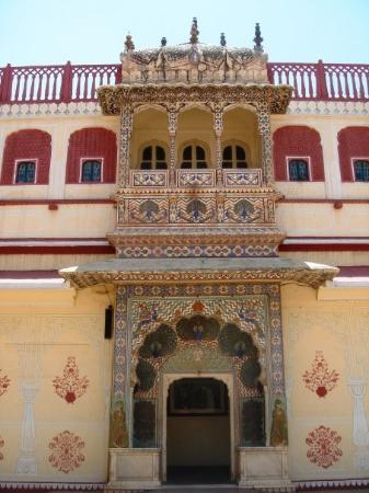Ful view of the summer port inside the City Palace in Jaipur