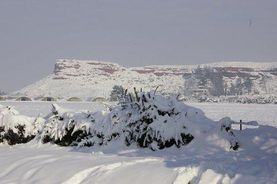 Vitrolles, France: neige en provence