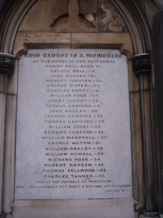 Southampton, UK: Memorial at Church of Holyrood