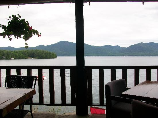 Stone Manor Restaurant at Blue Water Manor: View from the outdoor lower deck
