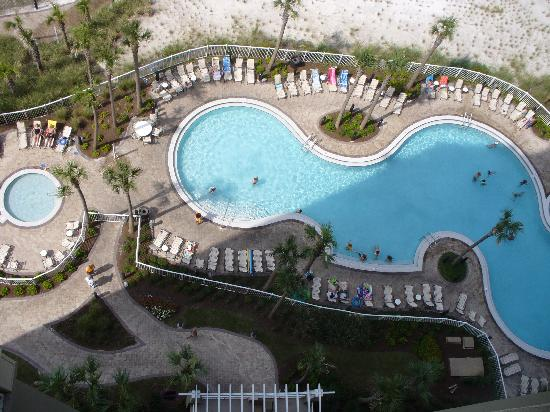 Grand Panama Beach Resort: view of pool from #1406