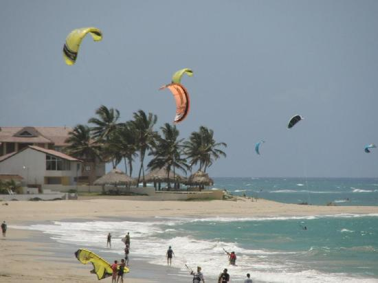 Cabarete Beach House at Nanny Estates: looking down Kite beach from Nanny Estates