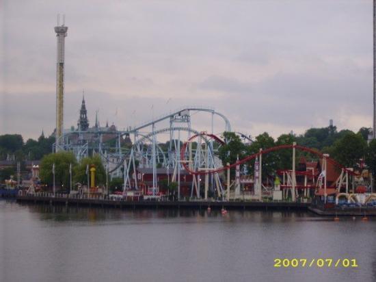 Grona Lunds Tivoli: Tivoli theme park in Stockholm