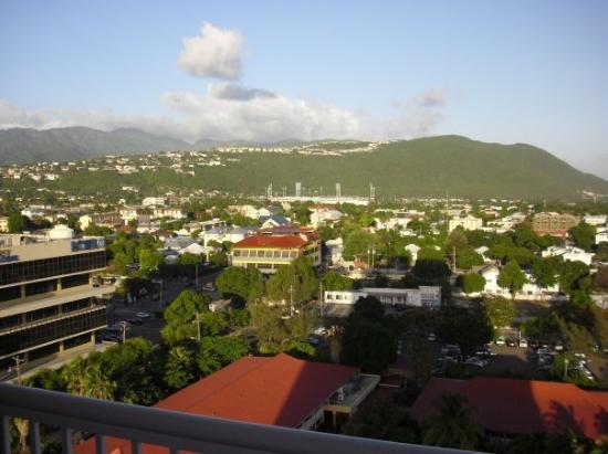 The Jamaica Pegasus Hotel: Aerial view of downtown Kingston.